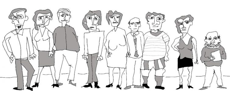 Myron Gilbert's People Drawings